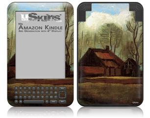Vincent Van Gogh Farmhouses Among Trees - Decal Style Skin fits Amazon Kindle 3 Keyboard (with 6 inch display)