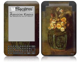 Vincent Van Gogh Ginger Jar - Decal Style Skin fits Amazon Kindle 3 Keyboard (with 6 inch display)
