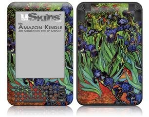 Vincent Van Gogh Irises - Decal Style Skin fits Amazon Kindle 3 Keyboard (with 6 inch display)