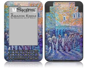 Vincent Van Gogh Prisoners Walking The Round - Decal Style Skin fits Amazon Kindle 3 Keyboard (with 6 inch display)