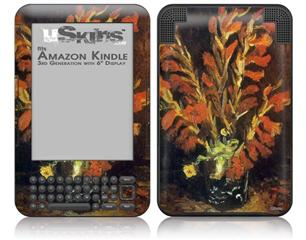Vincent Van Gogh Red Gladioli - Decal Style Skin fits Amazon Kindle 3 Keyboard (with 6 inch display)