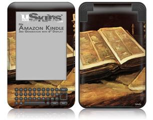 Vincent Van Gogh Still Life With Bible - Decal Style Skin fits Amazon Kindle 3 Keyboard (with 6 inch display)