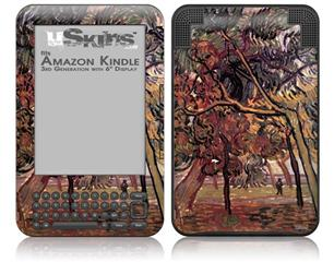 Vincent Van Gogh Study Of Pine Trees - Decal Style Skin fits Amazon Kindle 3 Keyboard (with 6 inch display)