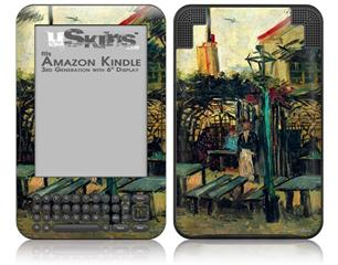 Vincent Van Gogh Terrace Of A Cafe - Decal Style Skin fits Amazon Kindle 3 Keyboard (with 6 inch display)