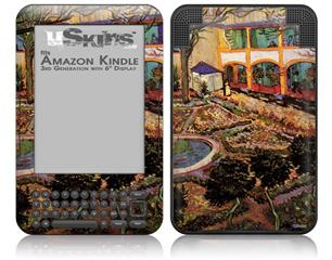 Vincent Van Gogh The Courtyard Of The Hospital At Arles - Decal Style Skin fits Amazon Kindle 3 Keyboard (with 6 inch display)
