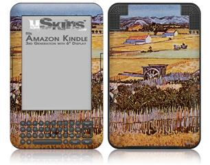 Vincent Van Gogh The Harvest - Decal Style Skin fits Amazon Kindle 3 Keyboard (with 6 inch display)