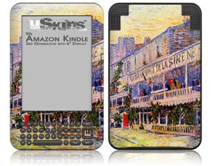 Vincent Van Gogh The Restaurant De La Siren In Asnières - Decal Style Skin fits Amazon Kindle 3 Keyboard (with 6 inch display)