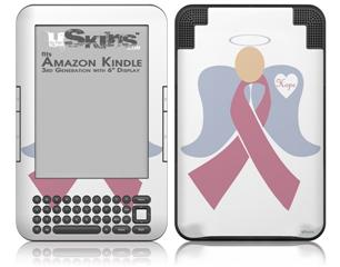 Angel Ribbon Hope - Decal Style Skin fits Amazon Kindle 3 Keyboard (with 6 inch display)