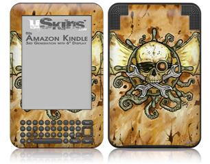 Airship Pirate - Decal Style Skin fits Amazon Kindle 3 Keyboard (with 6 inch display)