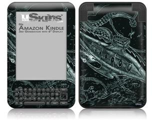 The Nautilus - Decal Style Skin fits Amazon Kindle 3 Keyboard (with 6 inch display)