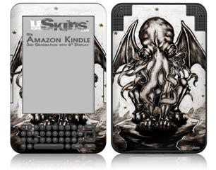 Thulhu - Decal Style Skin fits Amazon Kindle 3 Keyboard (with 6 inch display)