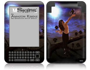 Kathy Gold - Crow Whisperere 1 - Decal Style Skin fits Amazon Kindle 3 Keyboard (with 6 inch display)