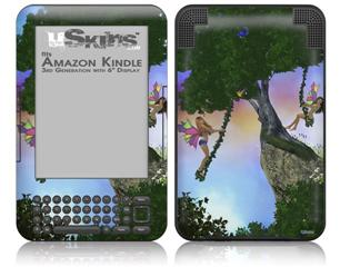 Kathy Gold - Summer Time Fun 1 - Decal Style Skin fits Amazon Kindle 3 Keyboard (with 6 inch display)
