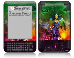 Kathy Gold - Tech Angel 2 - Decal Style Skin fits Amazon Kindle 3 Keyboard (with 6 inch display)