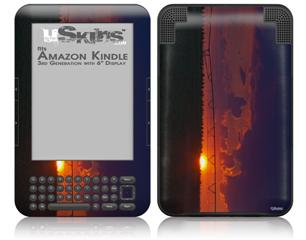 South GA Sunset - Decal Style Skin fits Amazon Kindle 3 Keyboard (with 6 inch display)