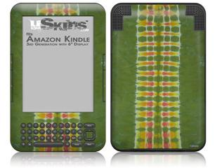 Tie Dye Spine 101 - Decal Style Skin fits Amazon Kindle 3 Keyboard (with 6 inch display)