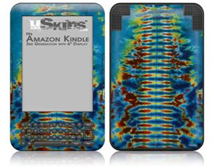 Tie Dye Spine 106 - Decal Style Skin fits Amazon Kindle 3 Keyboard (with 6 inch display)