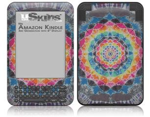 Tie Dye Star 104 - Decal Style Skin fits Amazon Kindle 3 Keyboard (with 6 inch display)