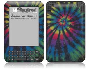 Tie Dye Swirl 105 - Decal Style Skin fits Amazon Kindle 3 Keyboard (with 6 inch display)