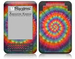 Tie Dye Swirl 107 - Decal Style Skin fits Amazon Kindle 3 Keyboard (with 6 inch display)