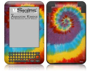 Tie Dye Swirl 108 - Decal Style Skin fits Amazon Kindle 3 Keyboard (with 6 inch display)
