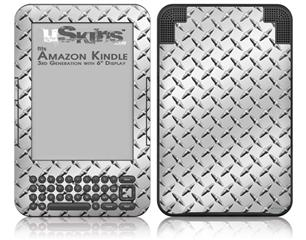Diamond Plate Metal - Decal Style Skin fits Amazon Kindle 3 Keyboard (with 6 inch display)