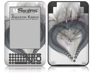 Be My Valentine - Decal Style Skin fits Amazon Kindle 3 Keyboard (with 6 inch display)