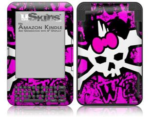 Punk Skull Princess - Decal Style Skin fits Amazon Kindle 3 Keyboard (with 6 inch display)