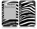 Zebra - Decal Style Skin fits Amazon Kindle 3 Keyboard (with 6 inch display)