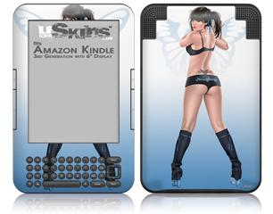 Naughty Girl Pin Up Girl - Decal Style Skin fits Amazon Kindle 3 Keyboard (with 6 inch display)