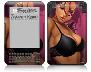 Violeta Pin Up Girl - Decal Style Skin fits Amazon Kindle 3 Keyboard (with 6 inch display)