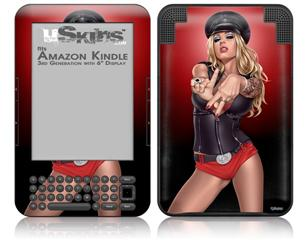 LA Womx Pin Up Girl - Decal Style Skin fits Amazon Kindle 3 Keyboard (with 6 inch display)