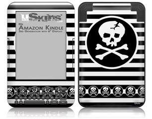 Skull Patch - Decal Style Skin fits Amazon Kindle 3 Keyboard (with 6 inch display)