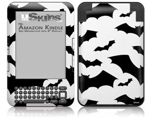 Deathrock Bats - Decal Style Skin fits Amazon Kindle 3 Keyboard (with 6 inch display)