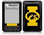 Iowa Hawkeyes Tigerhawk Oval 02 Gold on Black - Decal Style Skin fits Amazon Kindle 3 Keyboard (with 6 inch display)