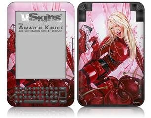 Cherry Bomb - Decal Style Skin fits Amazon Kindle 3 Keyboard (with 6 inch display)