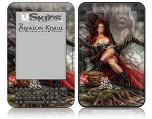 Red Riding Hood - Decal Style Skin fits Amazon Kindle 3 Keyboard (with 6 inch display)