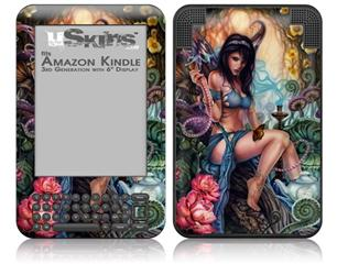 Unexpected Visitor - Decal Style Skin fits Amazon Kindle 3 Keyboard (with 6 inch display)