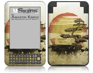Bonsai Sunset - Decal Style Skin fits Amazon Kindle 3 Keyboard (with 6 inch display)
