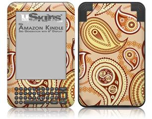 Paisley Vect 01 - Decal Style Skin fits Amazon Kindle 3 Keyboard (with 6 inch display)