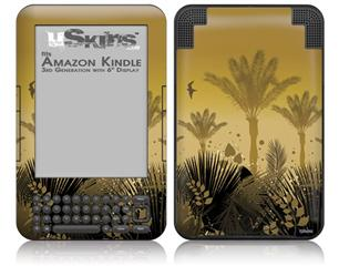Summer Palm Trees - Decal Style Skin fits Amazon Kindle 3 Keyboard (with 6 inch display)