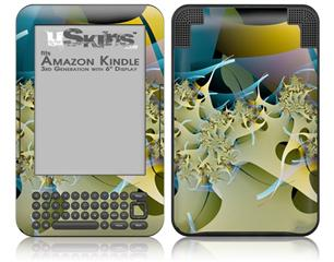 Construction Paper - Decal Style Skin fits Amazon Kindle 3 Keyboard (with 6 inch display)
