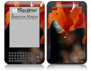 Fall Oranges - Decal Style Skin fits Amazon Kindle 3 Keyboard (with 6 inch display)