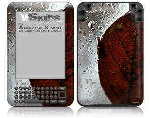 Rain Drops On My Window - Decal Style Skin fits Amazon Kindle 3 Keyboard (with 6 inch display)