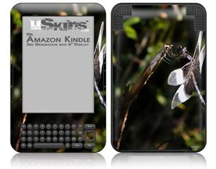 Dragonfly - Decal Style Skin fits Amazon Kindle 3 Keyboard (with 6 inch display)
