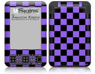 Checkers Purple - Decal Style Skin fits Amazon Kindle 3 Keyboard (with 6 inch display)