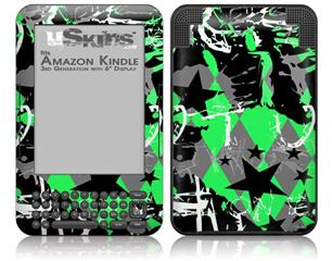 SceneKid Green - Decal Style Skin fits Amazon Kindle 3 Keyboard (with 6 inch display)
