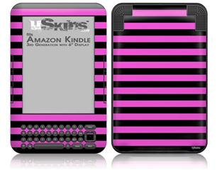 Stripes Pink - Decal Style Skin fits Amazon Kindle 3 Keyboard (with 6 inch display)