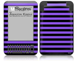 Stripes Purple - Decal Style Skin fits Amazon Kindle 3 Keyboard (with 6 inch display)