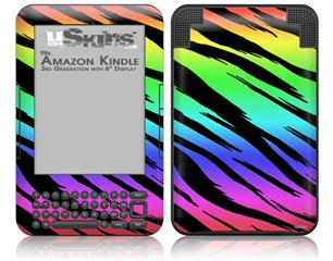 Tiger Rainbow - Decal Style Skin fits Amazon Kindle 3 Keyboard (with 6 inch display)